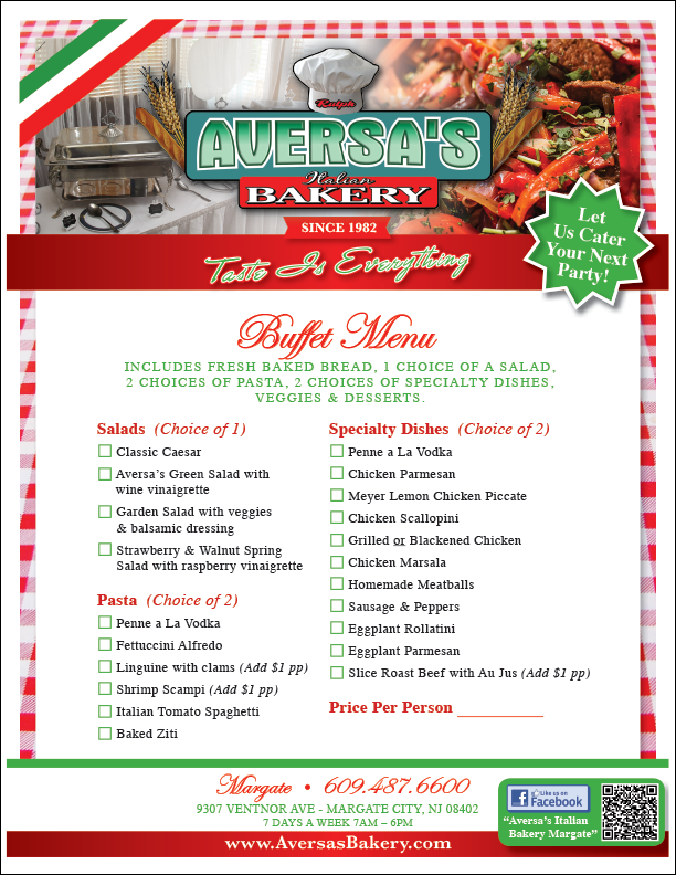 Aversas-Margate_Buffet-Menu
